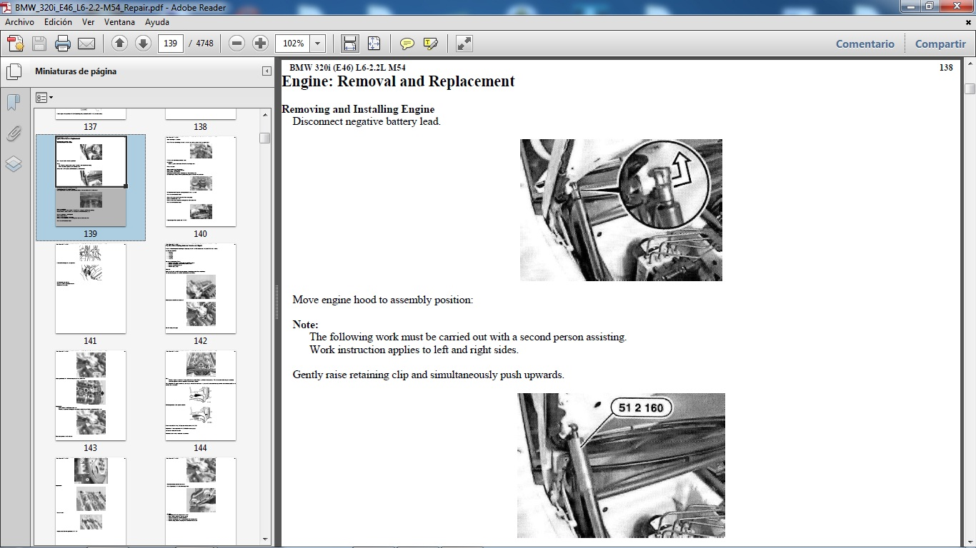 Manuales De Taller De Bmw  Bmw 320i Chassis E46 Motor M54