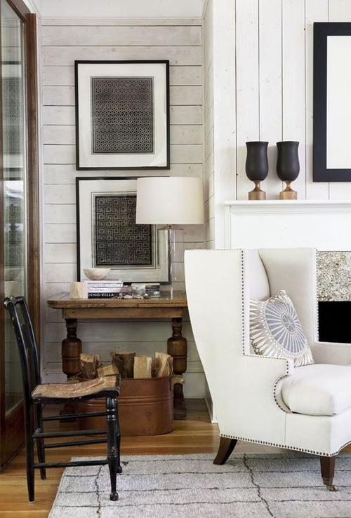 Above Vertical And Horizontal Combined Shiplap Has A Contemporary Feel