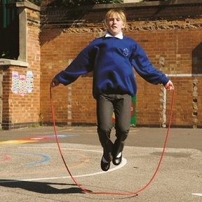 Anak Bermain Lompat Tali (Skipping)