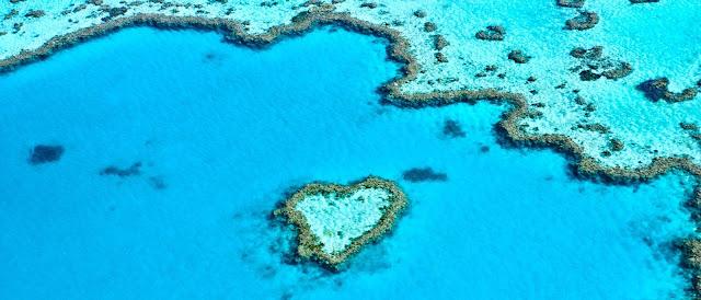 Great Barrier Reef heart Queensland