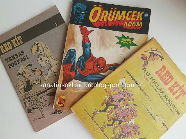 Üsküdar Sahaflar Festivali | Aldığım Çizgi Romanlar | Red Kit + Örümcek Adam