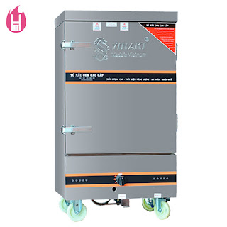 Tủ Nấu Cơm Gas Và Điện 10 Khay – TC10K-GĐ