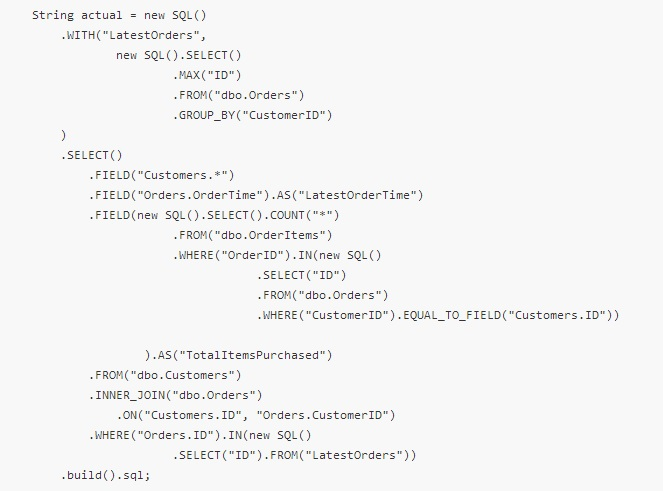 Database Friends: Fluent SQL - a minimalistic SQL builder for Java