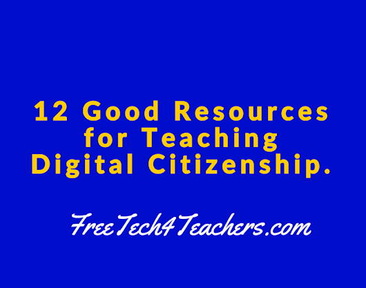 Resources for Teaching Digital Citizenship - A PDF Handout