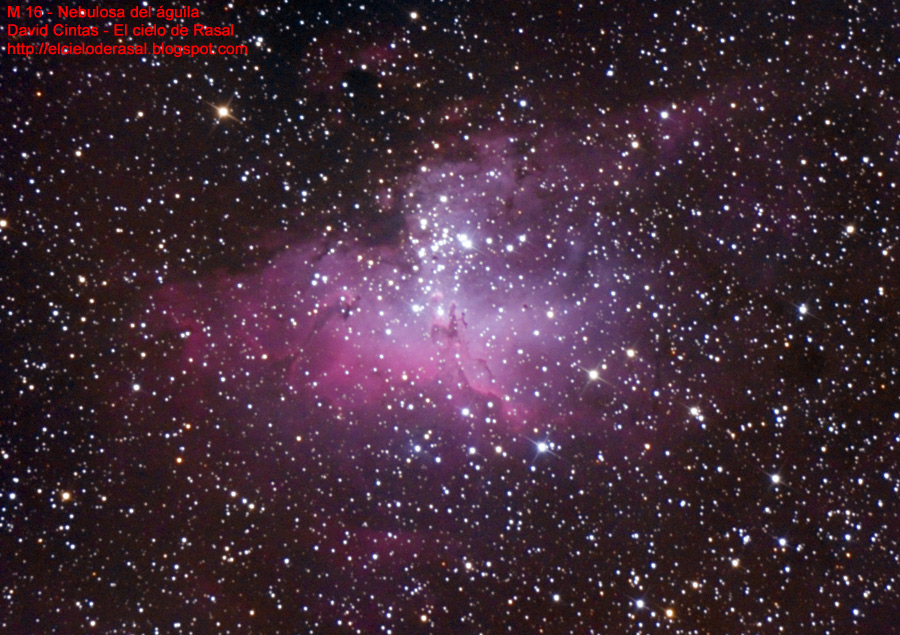 Nebulosa del águila y pilares de la creación - M 16 - El cielo de Rasal