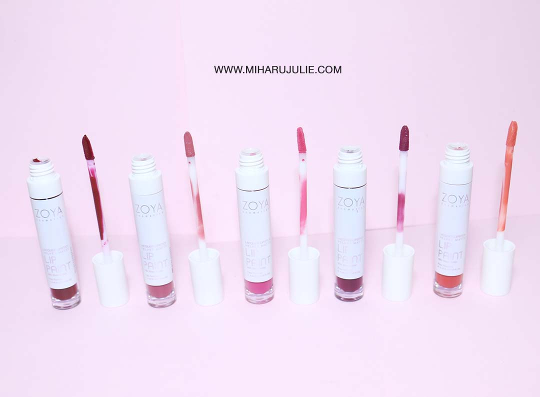 Zoya Lip Paint All Shade Review Swatches Indonesia Beauty And Cosmetics Baked Apple