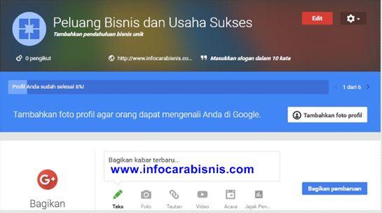 Laman Google Bisnisku