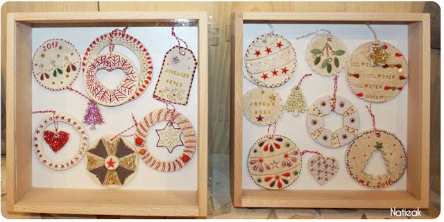 décoration de sapin en pate à sel
