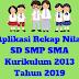 Aplikasi Rekap Nilai SD SMP SMA Kurikulum 2013 Tahun 2019 - Ruang Lingkup Guru