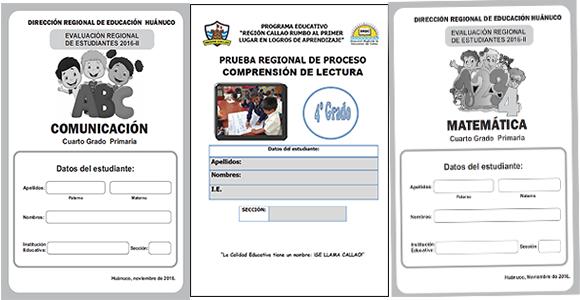Evaluaciones tipo ECE para 4° Grado - Callao y Huánuco ~ RUTAS DEL ...