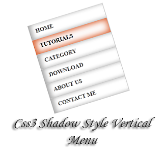 how to add together prissy vertical shadow card for your blogger Css3 Shadow Style Vertical Menu for Blogger