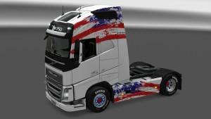 American Flag Volvo 2012 skin
