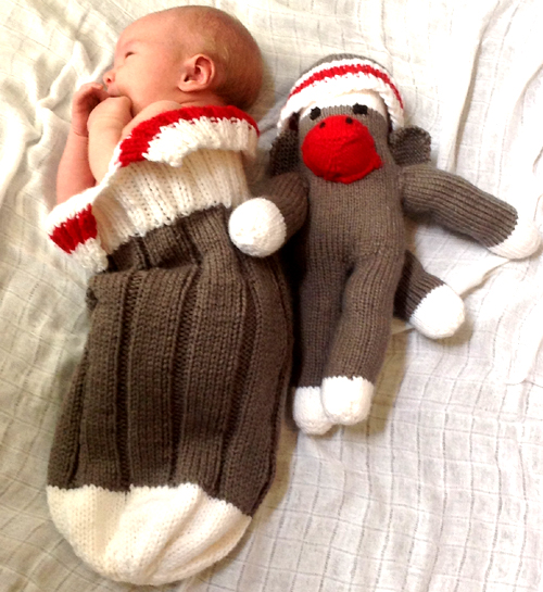 Work Sock Baby (Monkey) Snuggler - Free Pattern