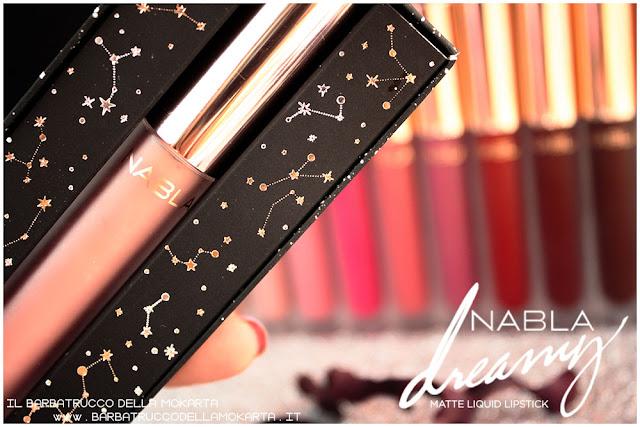Dreamy Matte Liquid Lipstick rossetto liquido nabla cosmetics confezione