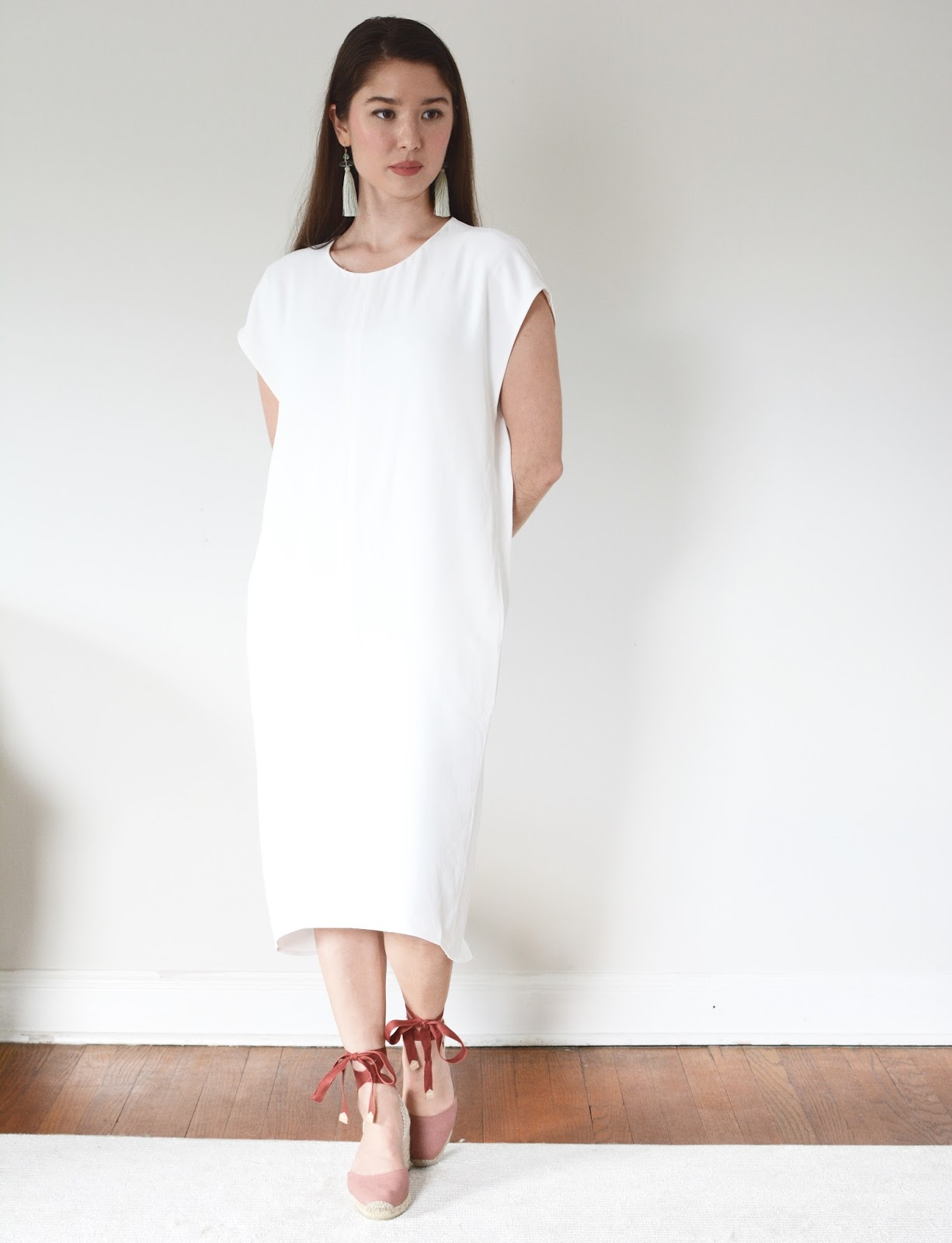Everlane GoWeave Cocoon Dress Review Photos Petite