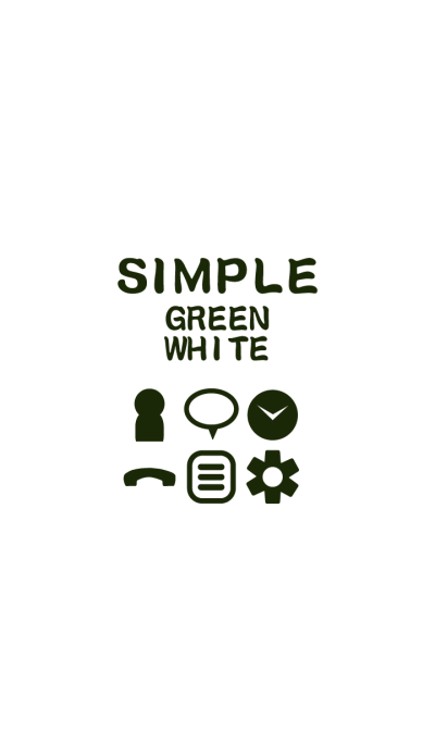 SIMPLE green*white*