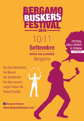 Buskers Festival 10-11 settembre Bergamo