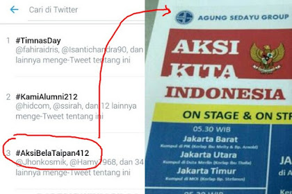 Tegar #AksiBelaTaipan412 Jadi Trend di Twitter