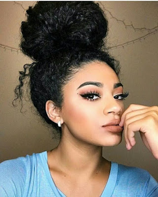 Check out these super simple and sexy curly hair styles like the messy bun. Space buns, bangs with buns and even more buns styles for you to love and rock!