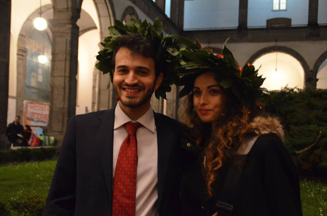 Italian University, graduation, Valentina Chirico, Italian University tradition, laurel crown, celebration