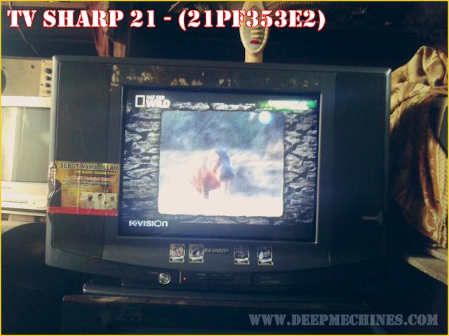 Gambar dan Keterangan TV SHARP 21 - (21PF353E2)  - Standby