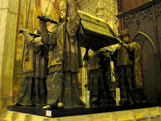 Tomb of C. Columbus, Cathedral of Seville, Spain