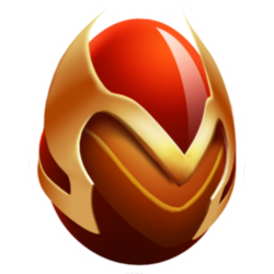 Aparência de ovo Dragão Fênix Real