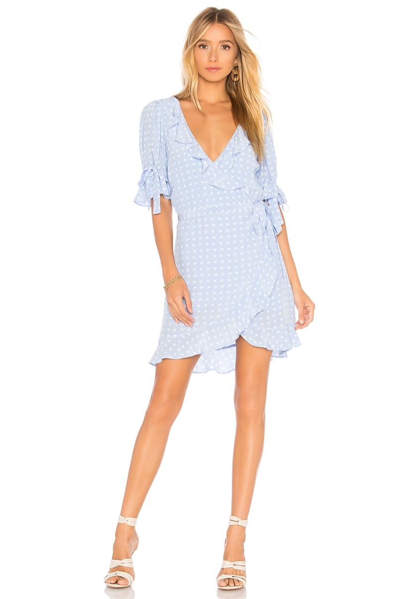 For Love & Lemons 'Sweetheart' Wrap Mini Dress