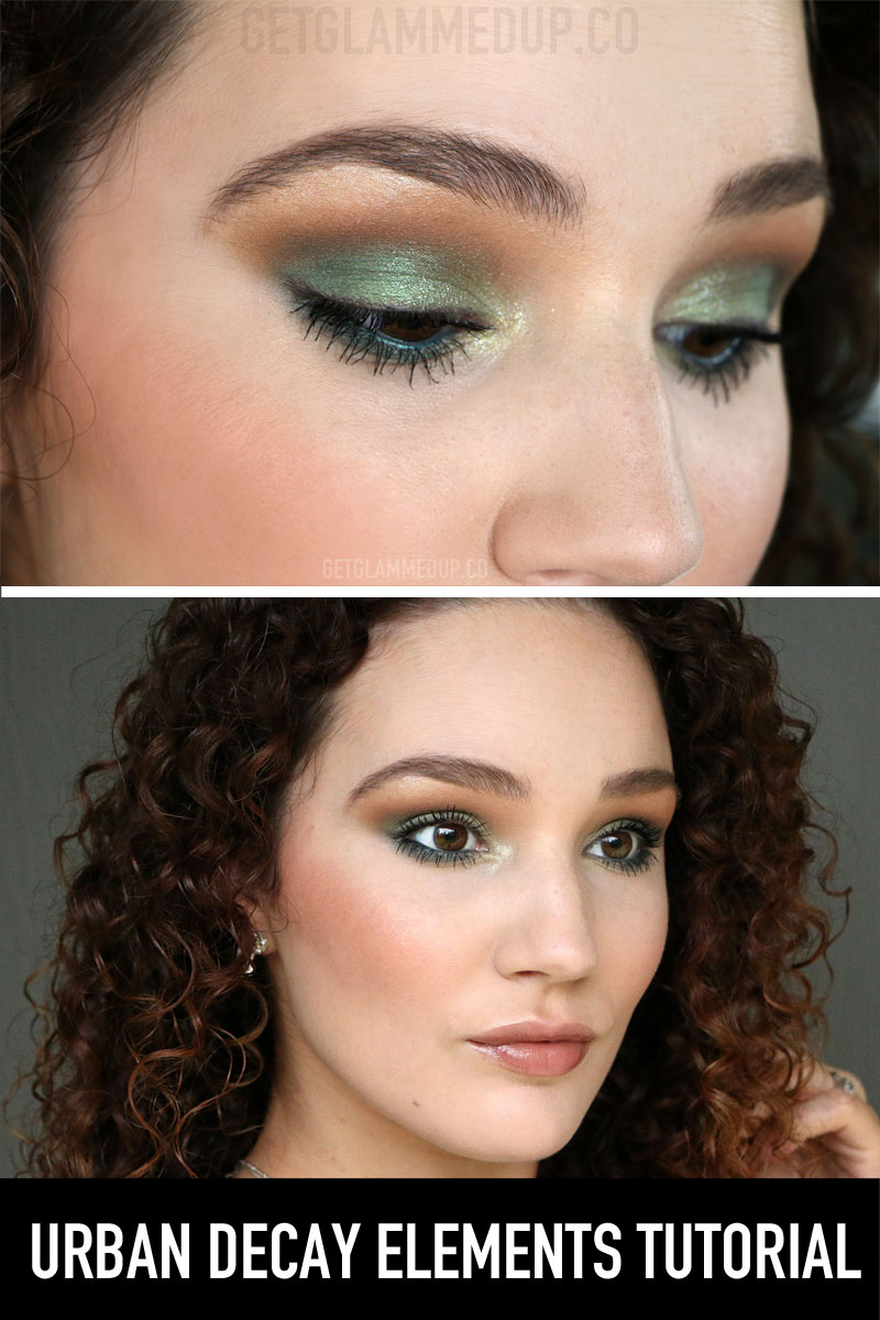 Fall Emerald Makeup Tutorial using the Urban Decay Elements Palette