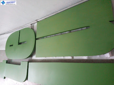 Built Up Signage with Green Paint Coating