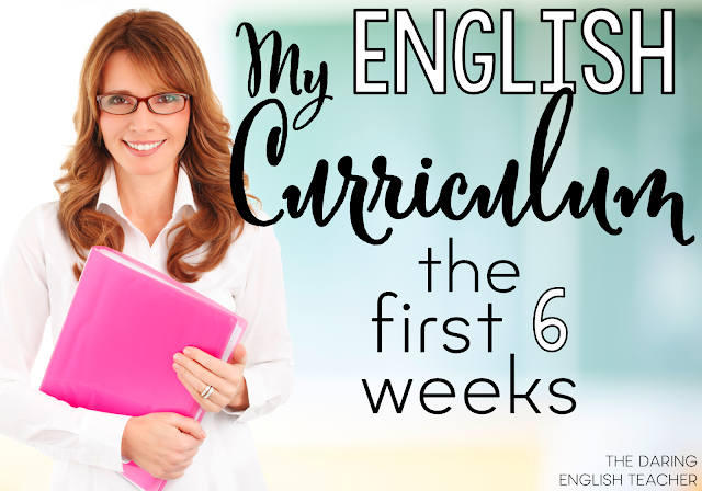 My English Curriculum: The first six weeks of teaching middle school or high school English. Lessons, activities, and ideas.