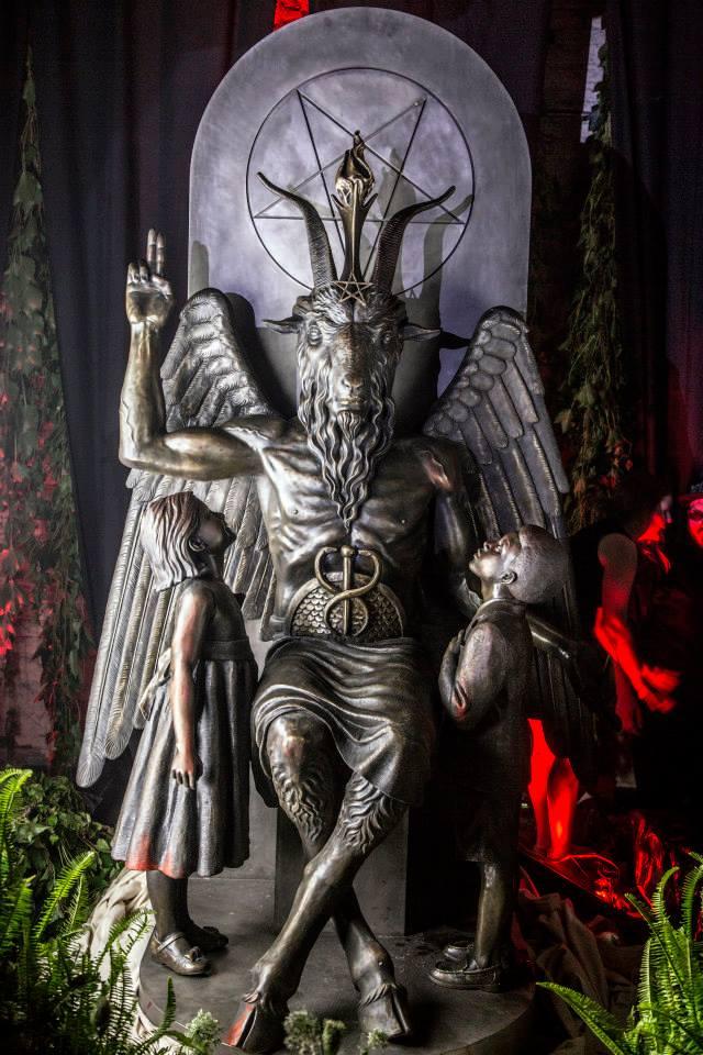 baphomet sculpture satan detroit