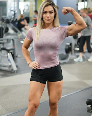 Cass Martin in the gym