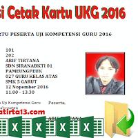 Aplikasi Cetak Kartu Peserta UKG 2016 Format Excel Gratis !!!