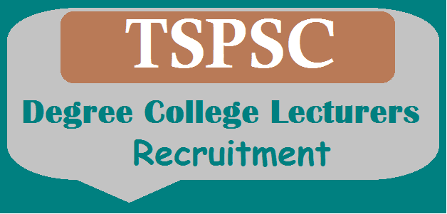 Degree College Lecturers, TS Jobs, TS Recruitment, TS Residentials, TS State, TS Women Residential Degree College, TSPSC, TSPSC Recruitments