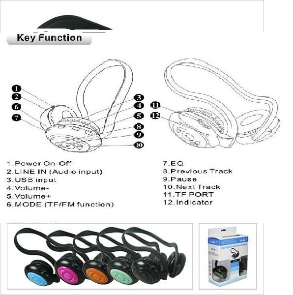 Nuova scheda neckband wireless spina musica con cuffie