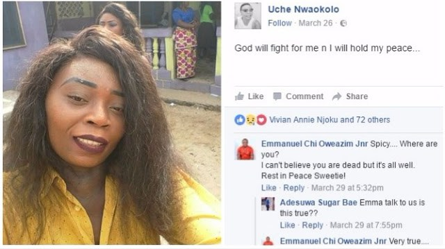 FUTO Female Graduate Dies After Leaving Her Facebook Audience With a Bizzare Post [See Photos]