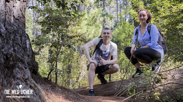 Arkadij und Katja aus Bremerhaven wandern auf den Tafelberg