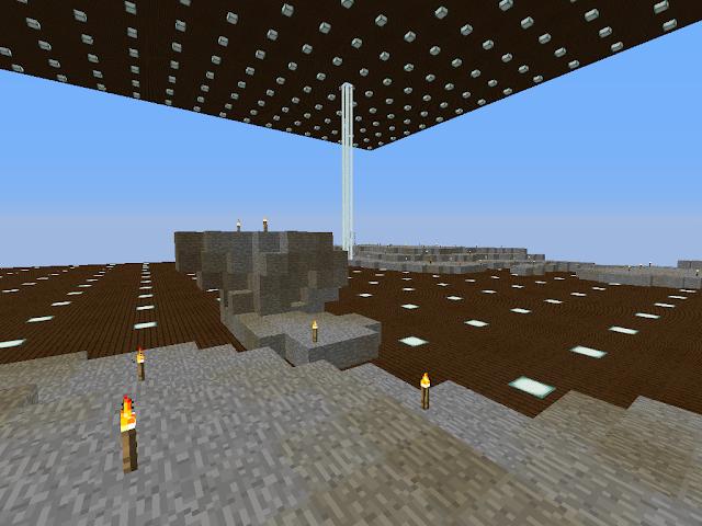 Kale Minecraftwereld in Skyblock.