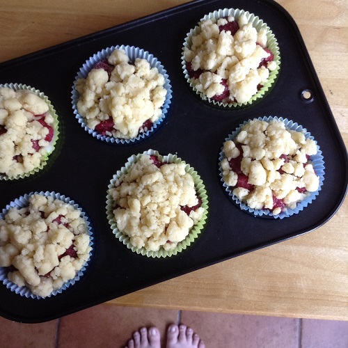 Himbeer-Pudding-Streusel-Muffins