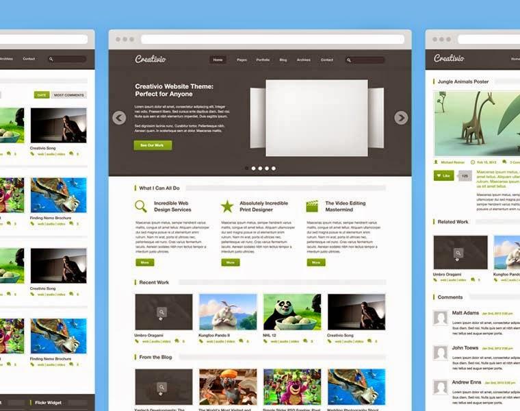 Creativio PSD Website Template