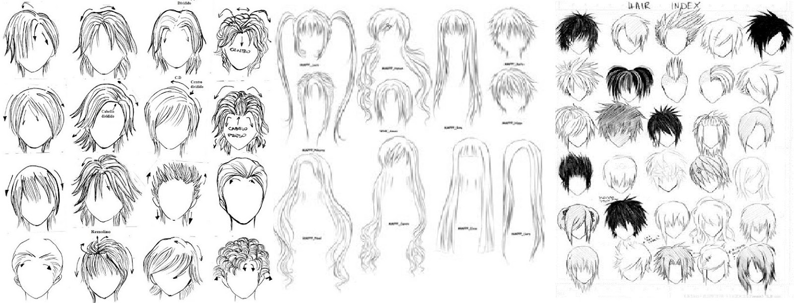 Banging peinados manga Galería de cortes de pelo Consejos - VL. Anime: Anime