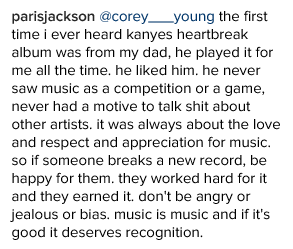, Paris Jackson's mature response to Kanye West beating her dad, Micheal Jackson's top 40 hits record, Latest Nigeria News, Daily Devotionals & Celebrity Gossips - Chidispalace