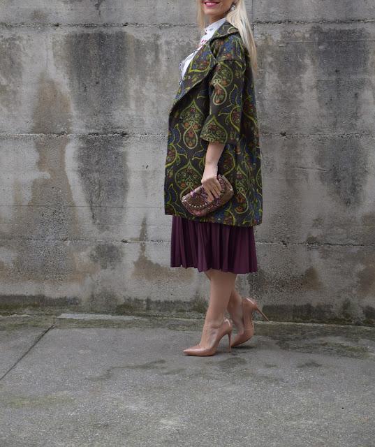 cappotto in lana stampata oversize linea a uovo felicia magno collezione cappotti felicia magno outfit per le feste outfit invernali