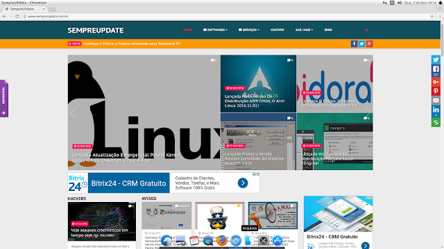 Navegador Fullscreen com Macbuntu