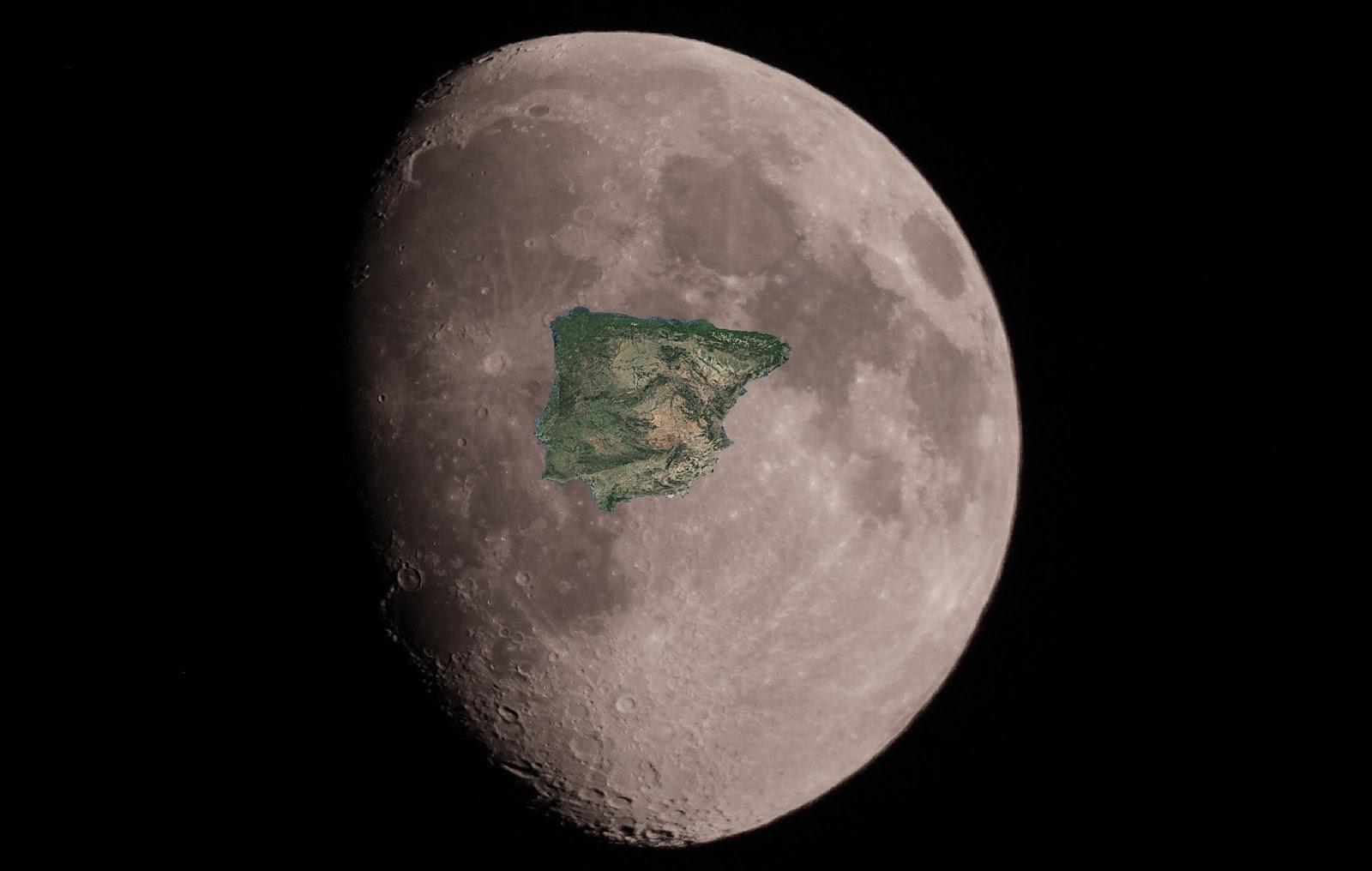 Luna peninsula iberica - El cielo de Rasal