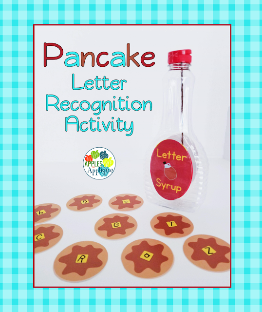 Pancake Letter Recognition Activity | Apples to Applique