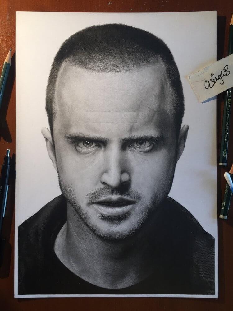 09-Breaking-Bad-Pinkman-Gurekbal-Bhachu-Realistic-Celebrity-Portraits-Drawings