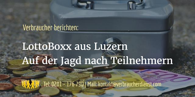 Titelbild: LottoBoxx aus Luzern - Auf der Jagd nach Teilnehmern