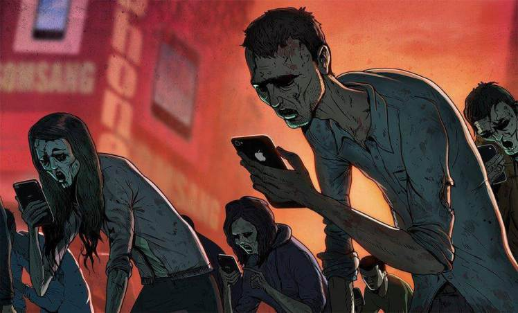 This Artwork Is Probably The Most Accurate (And Scary) Portrayal Of Modern Life We've Ever Seen - THIS IMAGE IN PARTICULAR RINGS TRUE FOR MOST OF US